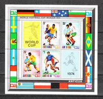 Antigua   -  1974.  Serie In Foglietto. MNH - Coppa Del Mondo