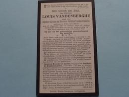 DP > Louis VANDENBERGHE ( Zoon Van Vandendriessche ) Rolleghem 22 Aug 1867 - 8 Dec 1918 ( Zie Foto's ) ! - Todesanzeige