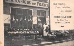 21 - Semur - Aux Jardins De France PERRICAUDET - Légumes-Volailles-Poissons - Subtile Animation - Rue Notre-Dame - Semur