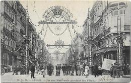 Lille - La Rue Nationale Pendant Les Fêtes 1904 ( Animée ) - Lille