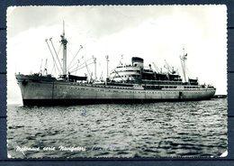 MOTONAVE Serie Navigatori - Anno 1951 -  Riproduzione Fotografica Su Cartolina Viaggiata. - Barche