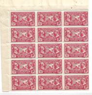 France N°244** Morceau De Feuille.(15 Timbres) - Full Sheets