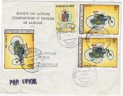 CONGO :  Divers Sur Lettre à Entête De La Sacem Pour Libreville CaD De Brazzaville - Congo - Brazzaville