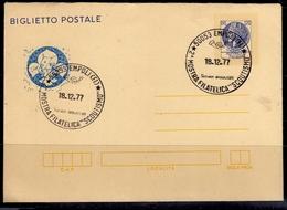 ITALIA REPUBBLICA BIGLIETTO POSTALE INTERO ITALY POSTCARD 18 12 1977 SIRACUSANA TURRITA LIRE 120 USATO USED OBLITERE' - Ganzsachen