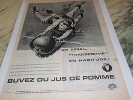 ANCIENNE PUBLICITE UN ESSAI JUS DE POMME 1961 - Affiches