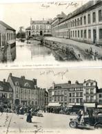 61 - L'Aigle - Lot De 2 Cartes - Fabrique Aiguilles Du Mérouvel Et Place De La Halle Hotel Dauphin - L'Aigle
