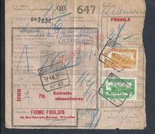 BELGIQUE DOCUMENT SUR TIMBRES CHEMIN DE FER TAMPON TIENEN X BRUXELLES : - Railway