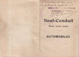 FRANCE : SAUF CONDUIT . AUTOMOBILES . JURA . LONS LE SAUNIER . - KFZ