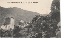 CHATEAUNEUF / GRASSE  - RUINES DU CHATEAU - LA TOUR , VUE DE LA PLACE  -   Editeur : H. ERCOLI  N° / - Frankreich