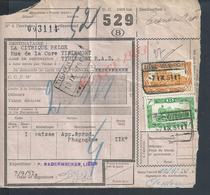 BELGIQUE DOCUMENT SUR TIMBRES CHEMIN DE FER  TIENEN X LIÉGE : - Railway