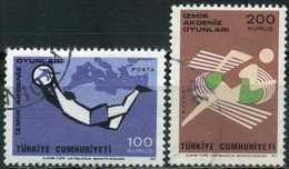 Turkey 1971 - Mi. 2238-39 O, Izmir Mediterranean Games - 1921-... République