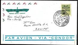 104 - BRASIL - 1930 - AIR MAIL - ZEPPELIN STAMP - COVER - FORGERY, FALSE, FAKE, FAUX, FALSO, FALSCH - Briefmarken