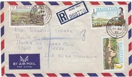 ILE MAURICE  :  Divers Sur Recommandé De Rose-Hill Pour La Réunion - Maurice (1968-...)