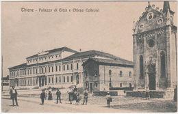 THIENE - VICENZA - PALAZZO DI CITTA' E CHIESA COLLEONI -22040- - Vicenza