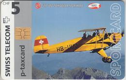 SWITZERLAND - PHONE CARD - TAXCARD - CHIP *** SPORTCARD & AVION ACROBATIQUE *** - Suisse