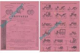 Paris, Griffault, Sellerie, Harnais, Voitures Hippomobiles, 18 Voitures, Tarifs 1890... - 1800 – 1899