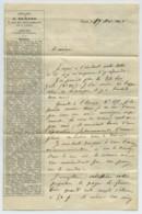 Lettre 1861 à En-tête De La Librairie D'Adolphe-Auguste Durand 7 Rue Des Grès-Sorbonne à Paris . Bibliophilie . - France