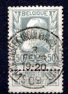 BELGIQUE - 1905 - N° 78 - 50 C. Gris - (Léopold II) - 1905 Breiter Bart
