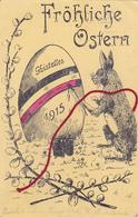 "Gistel  Gistelles Ghistelles "" Fröhliche Ostern "" 1915 Paashaas Duitse Uitgave - Kortemark"
