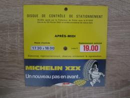 Publicité Disque De Stationnement Michelin Bibendum - Unclassified