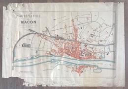 Plan De La Ville De MACON Par A. Budker - 1893 - Europe