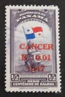"""PANAMA YT 250 OBLITERE """"LUTTE CONTRE LE CANCER""""ANNEE 1947 - Panama"""