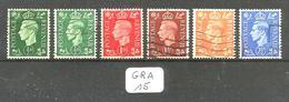 GRA YT 209b+209Ab+210b+211b+212Ab+213Ab En Obl Filigrane Inversé - 1902-1951 (Re)