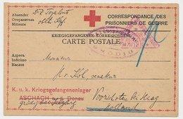 Censored POW / Red Cross Card Austria  - The Netherlands 1917 - WWI - Briefe U. Dokumente