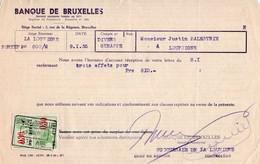 BANQUE DE BRUXELLES - GENAPPE - LOUPOIGNE - LA LOUVIERE - 09 JANVIER 1935. - Bank & Insurance
