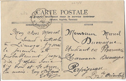 CONVOYEUR PERIGUEUX AGEN Et NONTRON THIVIERS 1904 - Spoorwegpost