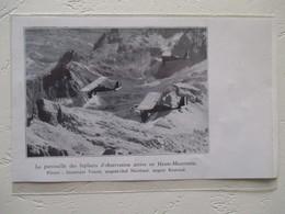 HAUTE MAURIENNE  - Avion Patrouilleur Biplaces  - Coupure De Presse De 1935 - Documenti Storici