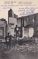 02 BERRY AU BAC..MILITARIA.  GUERRE 14-18 . APRES LE BOMBARDEMENT.+ TEXTE DU 7/03/1916 ENVOYÉ DE 55 NIXEVILLE - Guerre 1914-18
