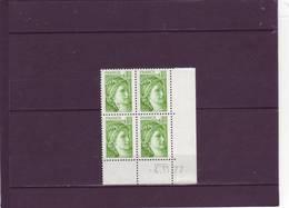 N° 1970- 0,80 SABINE - 1° Tirage Du  24.10.77 Au 12.11.77 - 4.11.1977 (2 Traits) - Dated Corners