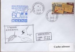 TAAF PLI ÎLES EPARSES JUAN DE NOVA TP 592 Obl. 1 7 2015 - Terres Australes Et Antarctiques Françaises (TAAF)