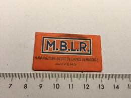 20E - M.B.L.R. Manufacture Belge De Lames De Rasoirs Anvers Extra Mince Petit Tache Lame Ayant été Moullée Probablement - Scheermesjes