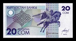 Kirguistan Kyrgyzstan 20 Som 1993 Pick 6 SC UNC - Kirguistán
