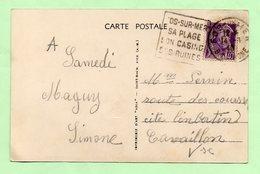 """DAGUIN - FOS-sur-MER  """"FOS-SUR-MER SA PLAGE SON CASINO SES RUINES"""" - 1940 - - Marcophilie (Lettres)"""