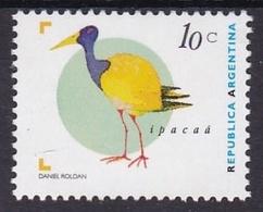 IPACAA, PAJARO BIRD OISEAUX. ARGENTINA AÑO 1997 GJ JALIL 2721 MNH TBE -LILHU - Unused Stamps