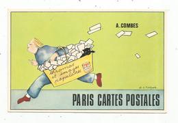 Cp , Publicité A. Combes, Paris Cartes Postales ,45 Rue De La Roquette , Paris 11 E ,achat Vente Cp, Timbres , Chromos.. - Pubblicitari