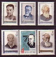 RUSSIA & USSR - 1963 - Anniversaires D'academiciens  Celebres - 6v** Yv 2702/04 Et 2641/43 - 1923-1991 URSS