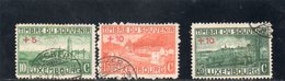LUXEMBOURG 1921 O - Oblitérés