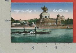 CARTOLINA NV GERMANIA - COBLENZ - Deutsches Eck - Kaiser Wilhelm Denkmal - 9 X 14 - Koblenz