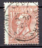 BELGIQUE - 1884-91 - N° 51 - 1 F. Rouge-brun S. Vert - (Léopold II) - 1869-1883 Leopold II