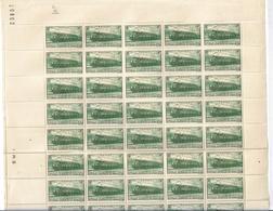 France N°339** Une Feuille De 50 Avec Coin Daté. - Feuilles Complètes