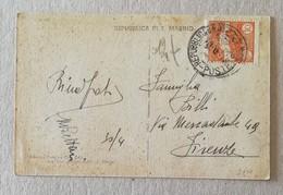 Cartolina Illustrata Repubblica Di San Marino Per Firenze - Anno 1905 - Saint-Marin