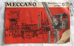 Ancien Manuel D'instruction  MECCANO Boite 0 Et 1 Jouet Construction - Autres Collections