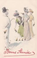 M.M. VIENNE N° 816 - Jeunes Femmes Bouteille De Champagne Et Père Noël- BONNE ANNEE -    (lot Pat 105) - Vienne