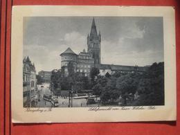Kaliningrad / Калининград / Königsberg I. Pr. - Schloßansicht Vom Kaiser Wilhelm Platz / Feldpost, Strassenbahn - Ostpreussen