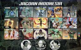 Indonesia - 2019 - Jagoan Indonesia - Comics Superheroes - Mint Stamp Sheetlet - Indonesia