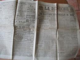 LA DEPÊCHE DE LA REGION DU NORD DU 4 AVRIL 1905 LES ELECTIONS SENATORIALES DU NORD,LA MI-CARÊME A LILLE............... - Journaux - Quotidiens